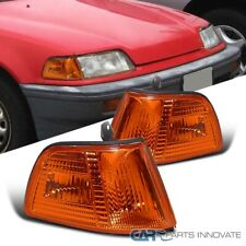 For Honda 90-91 Civic 3Dr Hatchback Amber Corner Turn Signal Lights Left+Right