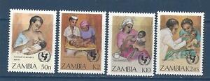 ZAMBIA - 440 - 443 - MNH - 1988 - UN CHILD SURVIVAL CAMPAIGN