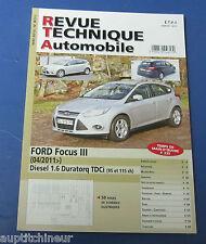 Revue technique automobile RTA B771 Ford focus III 04/2011 diesel 1.6 duratorq