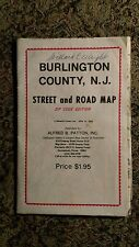 1977 Burlington County New Jersey Street And Road Map Alfred E Patton Zip Code