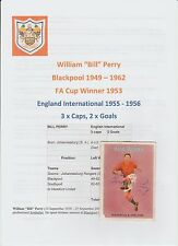Bill Perry Blackpool 1949-1962 rare original main signé ABC carte bonne / juste con