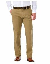 Haggar Men's Sustainable Flat Front Stretch Straight Fit Chino Pants Camel 32X32