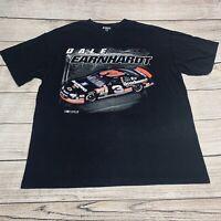 Vintage Dale Earnhardt Sr NASCAR T-Shirt Black Big Graphic Ligh #3 Size XL