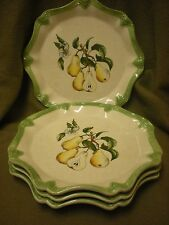 Frutta Bella Ambiance Collection Pears and Blossom Dinner Plate Set of 4