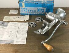 1974 UNIVERSAL Food & Meat Grinder Chopper No. 3  Course Med Fine cutter plates