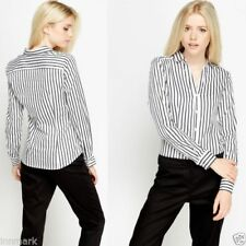 Hip Length Collared Tops & Shirts for Women with Buttons