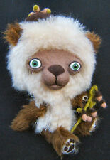 Cheeky & Quirky OOAK Teddy Bear by the Tuscan Bear Artist Mohair Felted Sculpted