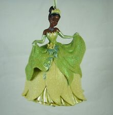 Disney Parks Christmas Ornament Tiana in Green Glitter Dress Princess and Frog