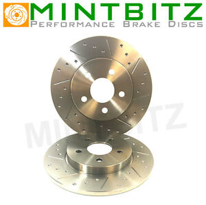 CITROEN C2 2003 REAR Dimpled And Grooved SPORT BRAKE DISCS