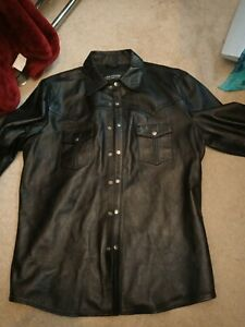 Mens leather shirt xl