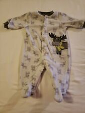Boys 3 Months Carters Fleece Moose Sleeper