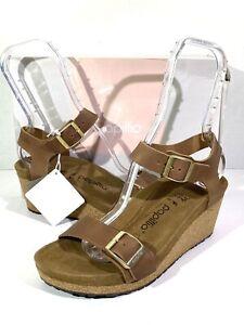 Papillio By Birkenstock Soley Women's Sz 8(EU39)N Fit Brown Wedge Sandals S1-262
