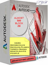 AUTOCAD COLLECTION DWG FILE SOFTWARE  ARCHITECTURE LIBRARY 500 BLOCK 2D