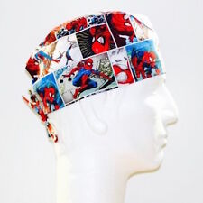 Spiderman on action theme Scrub Hat