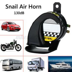 12V Waterproof 130dB Snail Air Horn Siren Loud Sound Car Truck Motorcycle