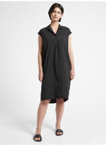 ATHLETA Daybreak Dress XS Black Commute Travel #981019