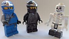 LEGO  NINJAGO MINIFIGURES  COLE ZX   BONEZAI   JAY ZX