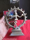 Vintage Brass Hindu God Lord Shiva Dancing Nataraj Statue  Figurine Collectible