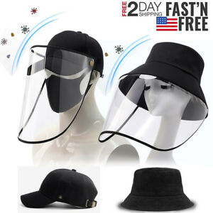 Baseball Cap Fishman Dome Hat Anti Spitting Saliva Proof + Clear Full Face Cover