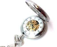 Mechanical Pocket Watch Railroad Jesse Kansas Vintage Chain Doesn't Wind or Work