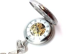 Mechanical Pocket Watch Railroad Jesse Kansas Vintage Chain Doesn't Wind or Work