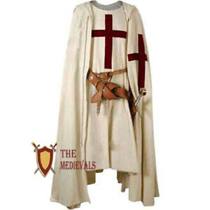 Crusader Red Cross cape with tunic Medieval Renaissance Knight or LARP Clothing