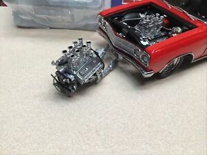 1/18 GMP DRAG FUEL INJECTED CHEVROLET ENGINE AND TRANSMISSION 1320 DRAG KINGS