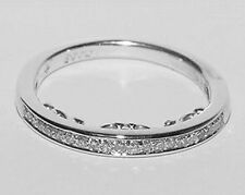 NEW 14K White Gold Diamond THIN Wedding Anniversary 2.5mm Band Guard Ring 6.5
