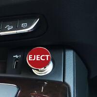 Metal Sport Red Eject Push Button Design Car Auto Plug Cover Cap Trim Universal