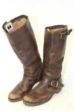 Frye Womens 8.5 B Veronica Slouch Brown Leather Riding Boots 77609 hz