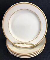 Homer Laughlin Restaurant Ware Bread & Butter Plates Set of 4 Brown Stripe USA