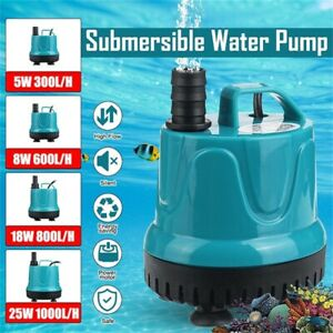 Submersible Pump Automatic Water Pump Aquarium Fish Tank Pond Suction Pump Clean