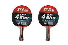 Stag 4 Star Table Tennis Racquets - Set of 2 Racquets