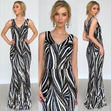 Stunning Sequins Gown Size 14 Black Tie Formal Ball Red Carpet Concert
