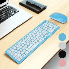 More details for slim 2.4g wireless keyboard & cordless optical mouse combo for pc desktop uk