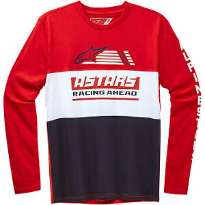 Alpinestars Rivalry Long-Sleeve T-Shirt Red All Sizes
