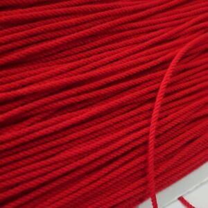10 metres of Christmas red twist cord gimp sewing braid trim 3mm wide