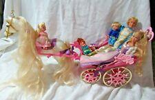 Grow Hair Rapunzel Talking Prince Stefan 3 Kelly Friend Boticelli Horse Carriage