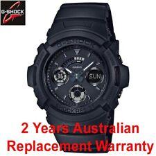 CASIO G-SHOCK MEN WATCH AW-591BB-1A ALL BASIC BLACK AW591BB-1ADR 2-YEAR WARRANTY