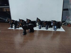 Lego Black Horse Lot (8)