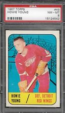 PSA 8 1967 TOPPS HOCKEY #49 HOWIE YOUNG