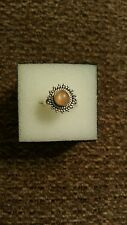 Artisan Crafted Orange Moonstone Ring in SS  - Size 6