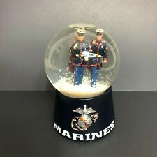 USA Military Marines Soldiers Marching Christmas Snow Globe Toy Sack Black Base