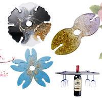 Wine Tablett Harz Casting Silikonform Cup Rack Halter Epoxy Bastel DIY Werkzeug