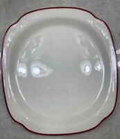 Syracuse China Square Plate Platter Restaurant Ware Cardinal Red  11inch