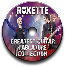 ROXETTE ROCK POP GUITAR TABS TABLATURE SONG BOOK ANTHOLOGY SOFTWARE LIBRARY CD
