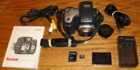 Kodak EasyShare DX6490 4.0 MP 10x Optical Zoom Lens Black UVGC Guarantee Bundle