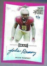 2016 Leaf Draft Jalen Ramsey Auto #d 9/9 Holiday Bonus Jacksonville Jaguars
