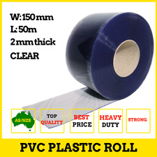 Clear PVC Roll Plastic Strip PVC Strip Curtain Door Coolroom 50m x 150mm x 2mm