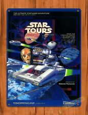 Tin Sign Disney Star Tours Tokyo Star Wars Attraction Ride Movie Poster Art
